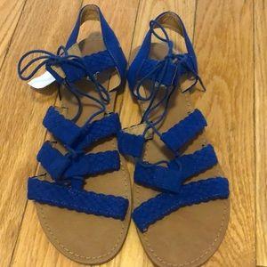 Women's Blue Lace Up Sandal Size 9